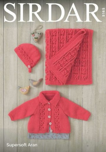 Baby Girls Jacket, Bonnet and Hat Knitting Pattern, Sirdar 5165